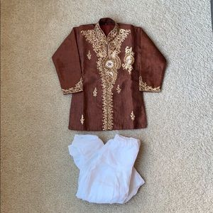 Other - Brown sherwani with white pants NWOT
